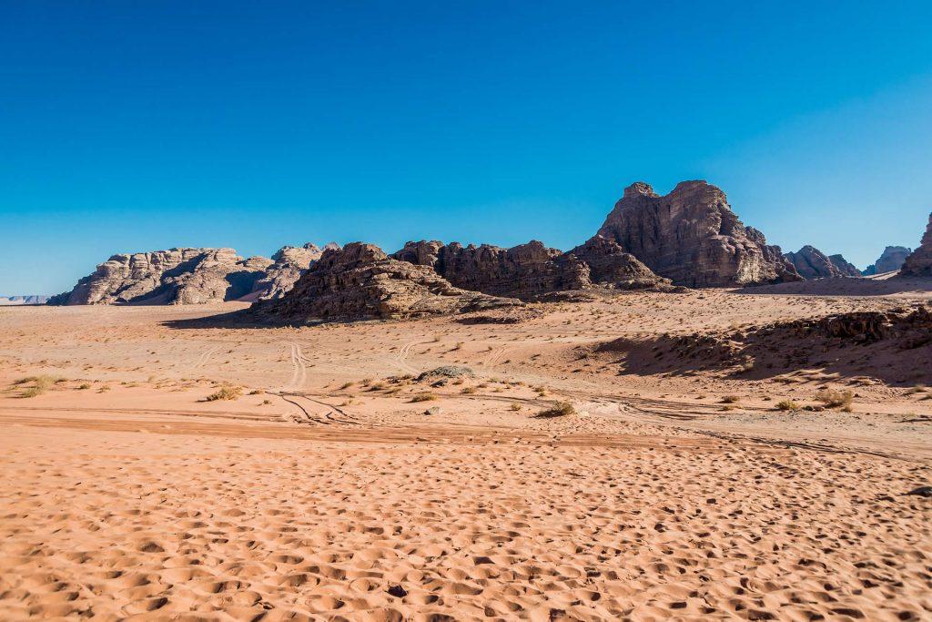 Das Trockental Wadi Rum