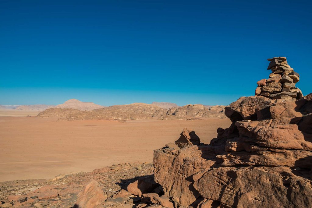 Blick ins Wadi Rum in Jordanien