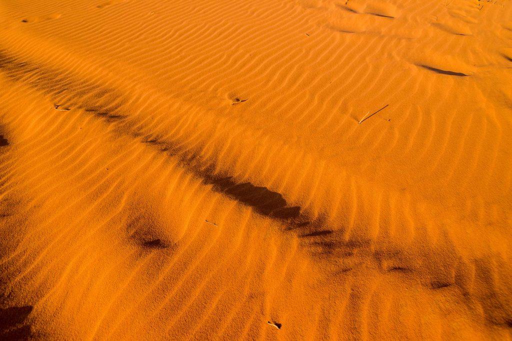 Sanddüne im Abendlicht