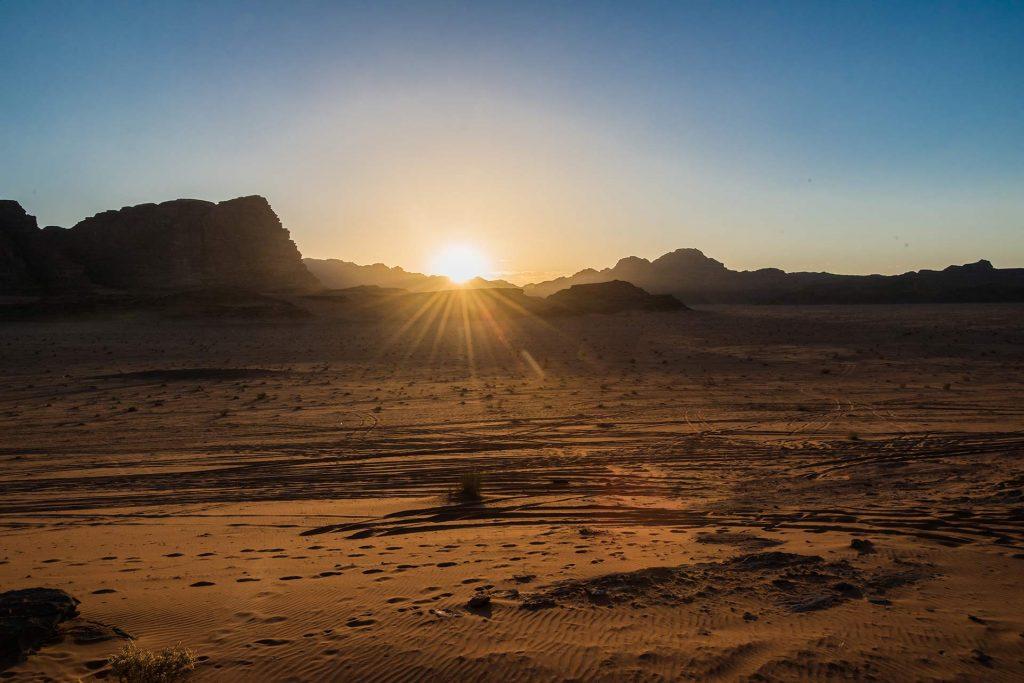 Sonnenuntergang im Wadi