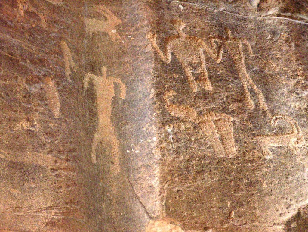 Anfaishiyya Petroglyphen im Wadi Rum
