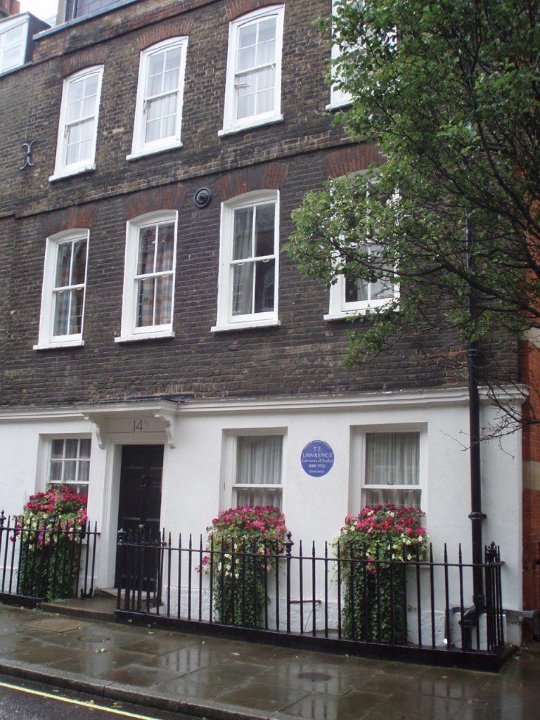 Wohnhaus von Thomas Eward Lawrence in der Barton Street/London