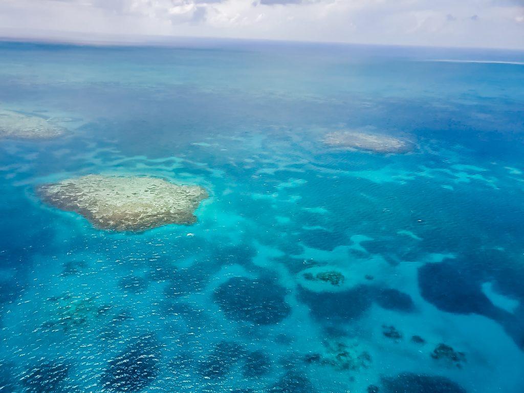 Flug zum Belize Barrier Reef