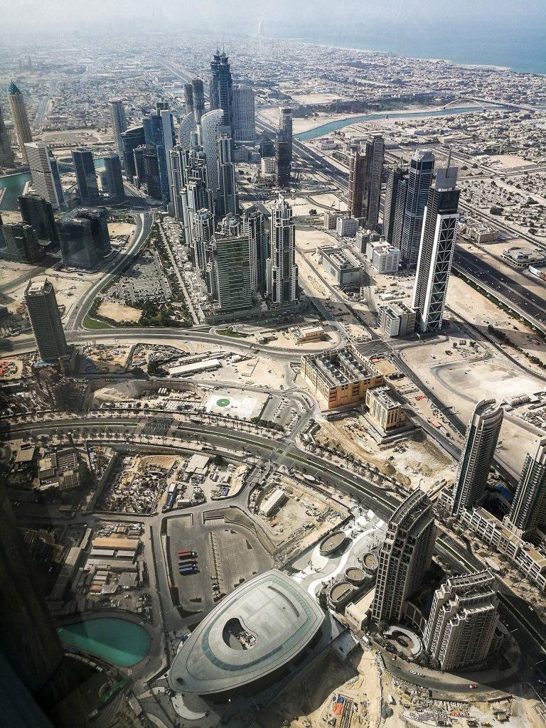 Ausblick von der Aussichtsplattform auf Dubai