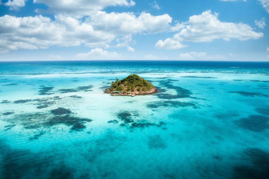 Insel im Belize Barrier Reef