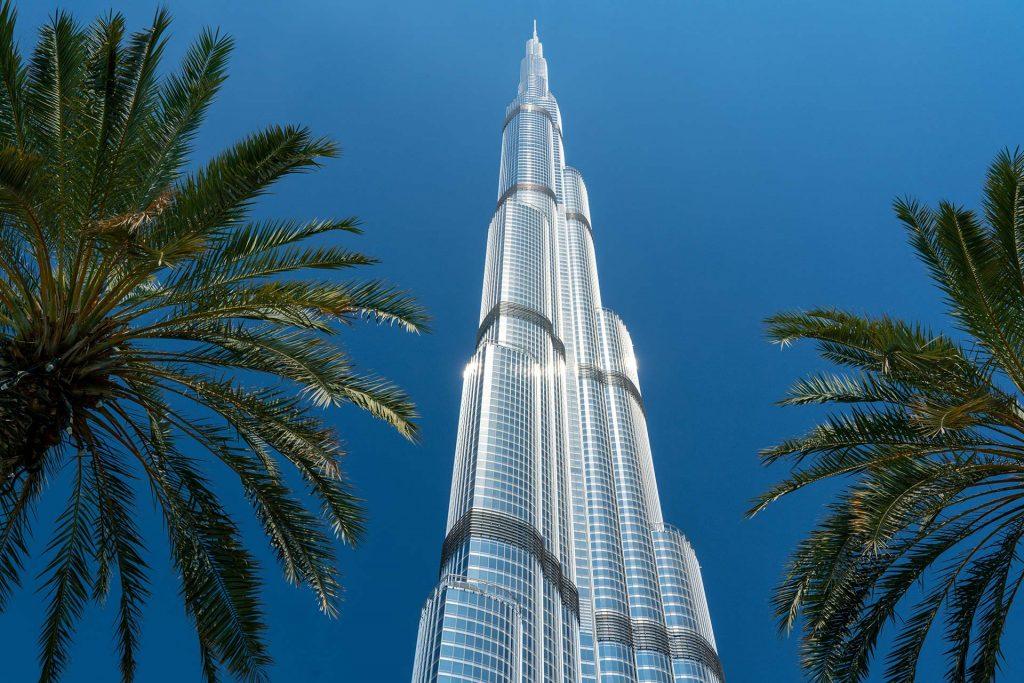 Burj Khalifa in Dubai wie ein Spiralminarett ausgeführt