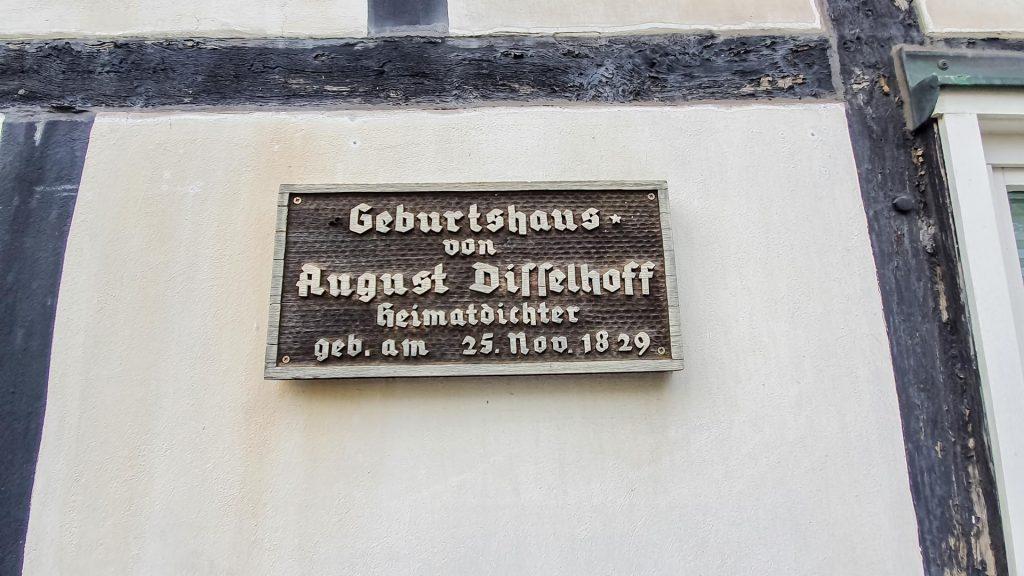 Geburtshaus von August Disselhoff