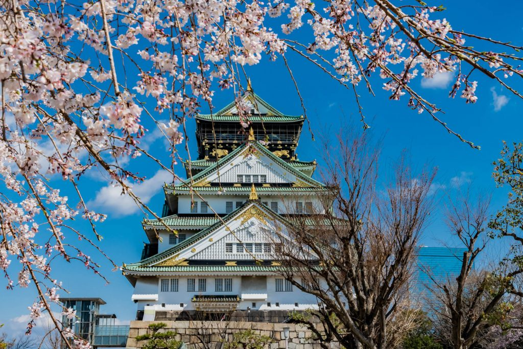 Burg Osaka in Japan