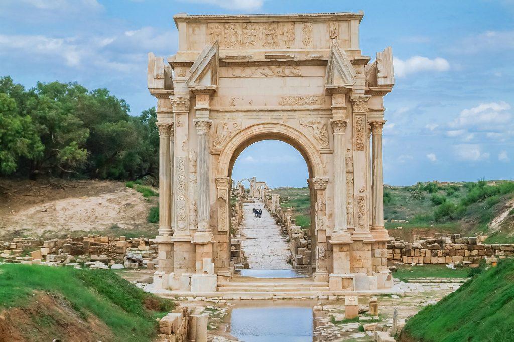 Triumphbogen des Septimius Severus in Leptis Magna