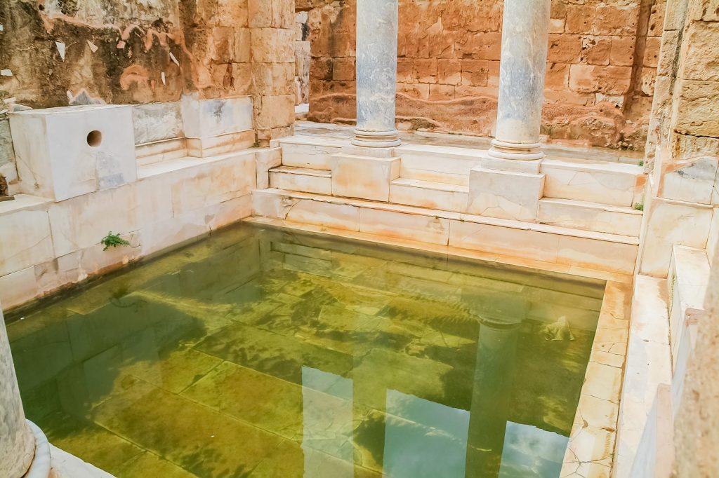 Wasserbecken bei den Hadriansbädern