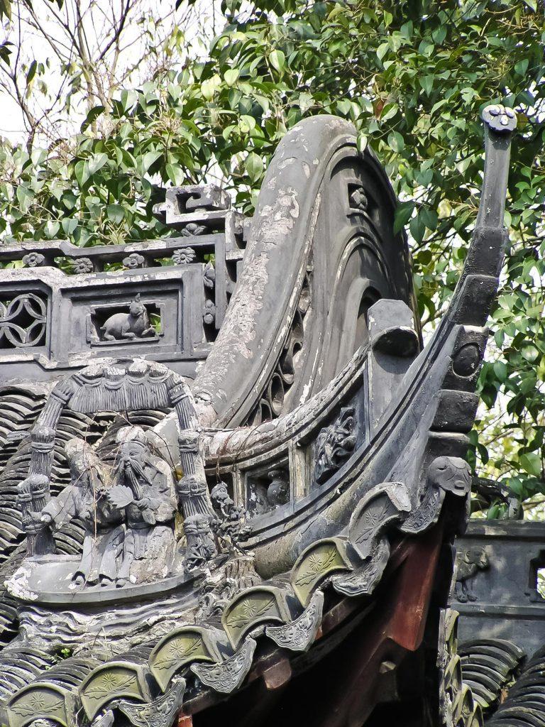 Dachdetail im Yu Garten in Shanghai