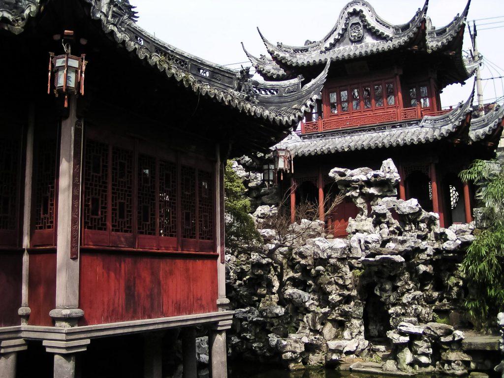 Pavillion im Ming Garten in Shanghai