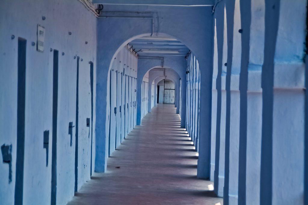 Zellengang im Kolonialgefängnis in Port Blair auf den Andamanen