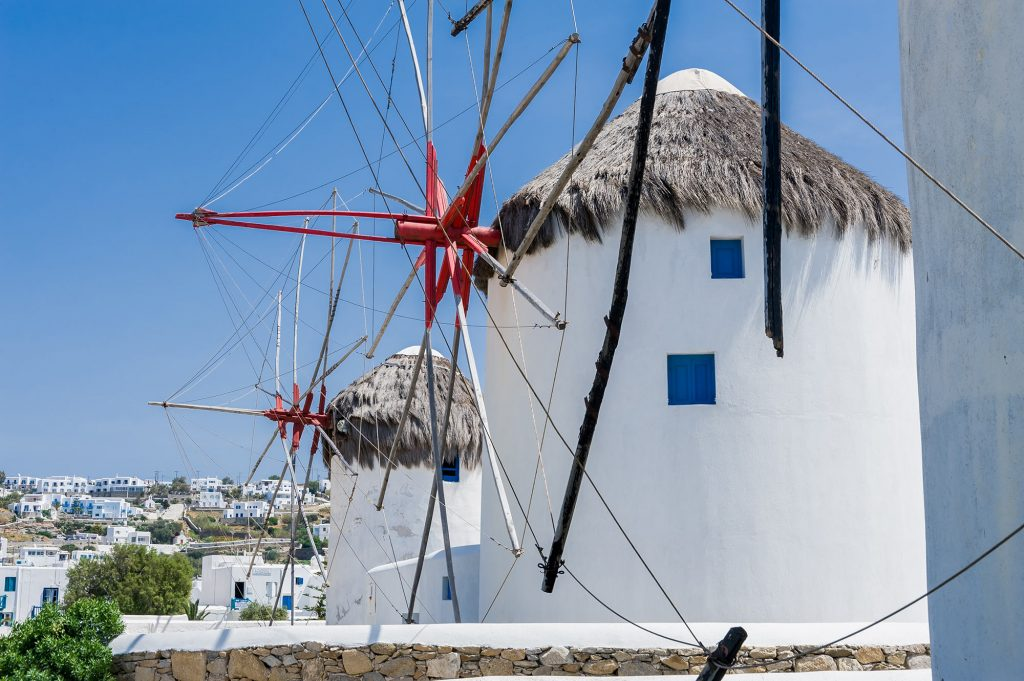 Kato Mili - die Windmühlen in Mykonos Stadt