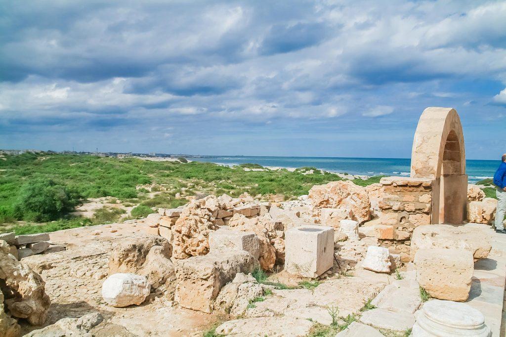 Ruinen in Leptis Magna/Libyen