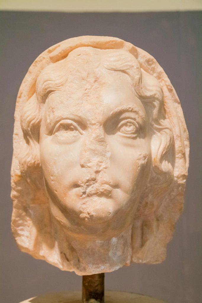 Büste im Museum in Leptis Magna