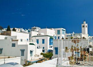 Das Dorf Sidi Bou Said in Tunesien