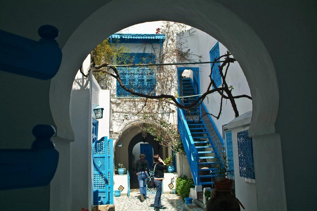 Patio in Sidi Bou Said Tunesien
