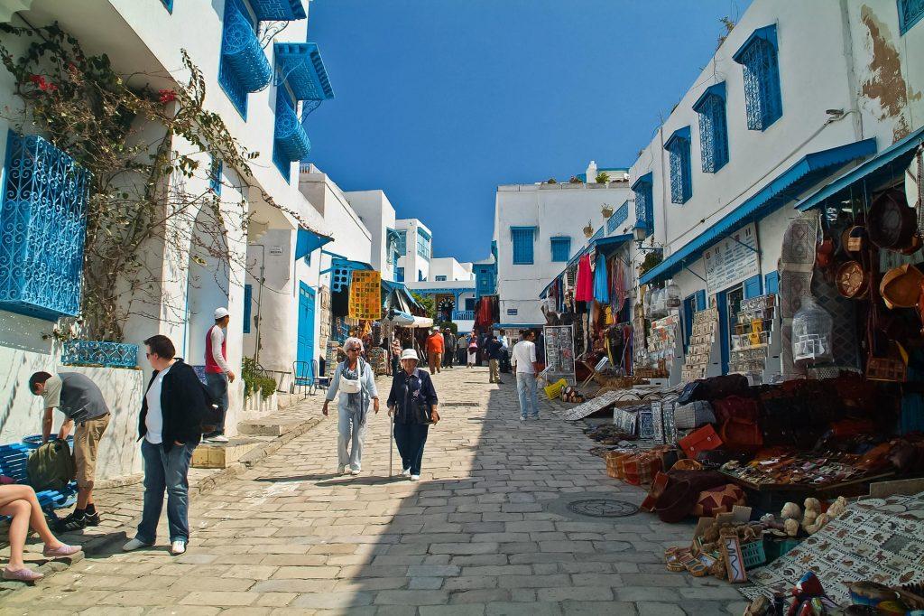 Hauptstrasse in Sidi Bou Said