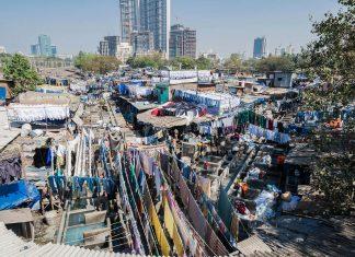 Dhobi Ghat in Mumbai/Indien