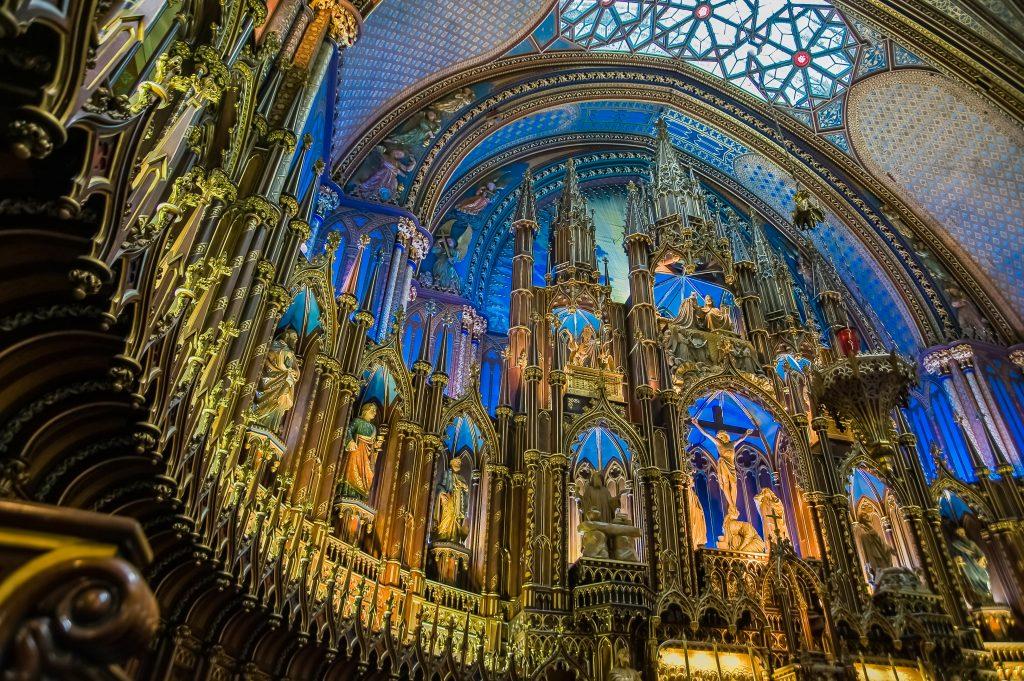Chorraum der Basilika Nôtre Dame in Montreal