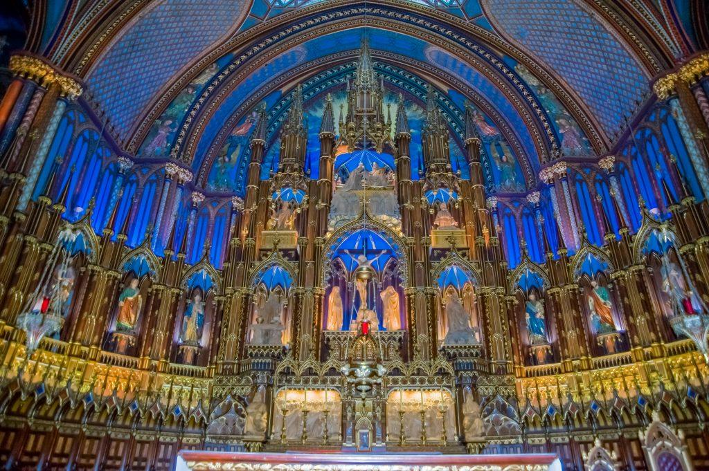 Altar in der Basilika Nôtre Dame in Montreal
