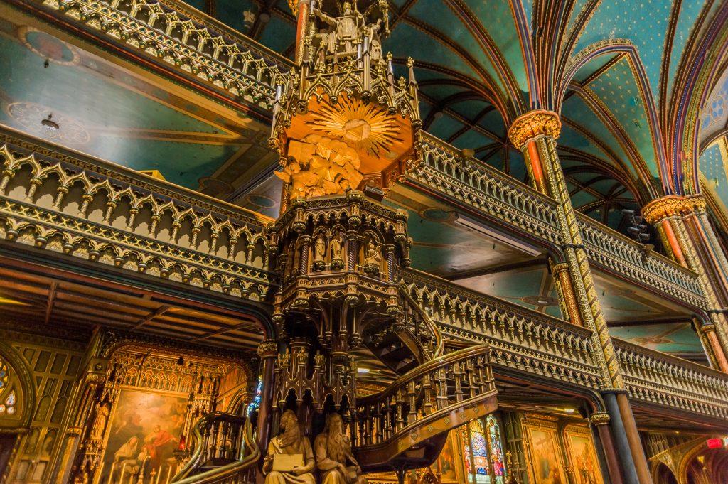 Kanzel in der Basilika Nôtre Dame in Montreal