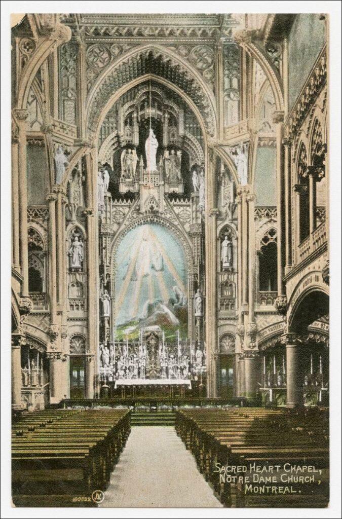 Notre-Dame-du-Sacré-Coeur Kapelle in Montreal 19. Jh.