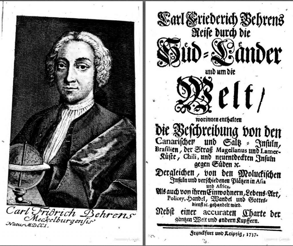 Titelblatt der Reise durch die Südländer von Carl Friedrich Behrens