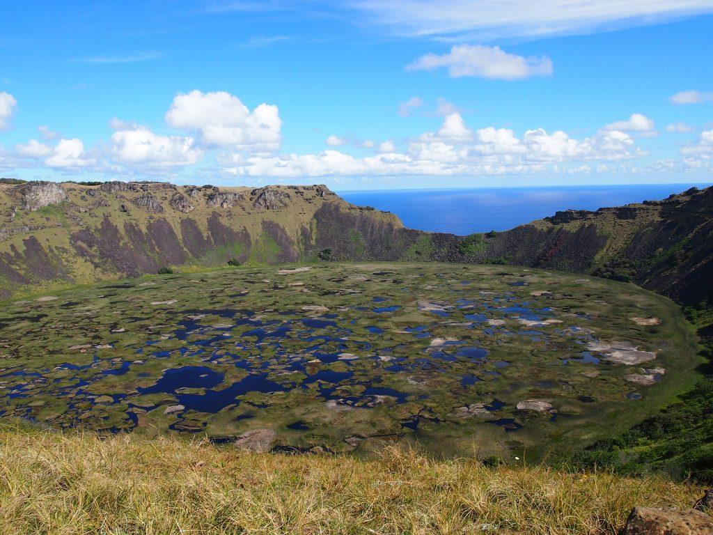Kratersee des Ranu Kao auf Rapa Nui