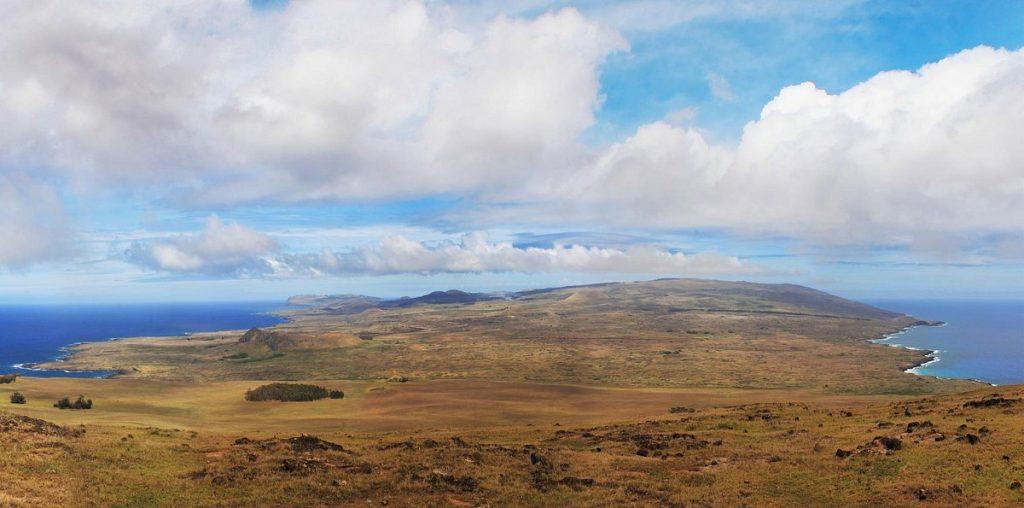 Blick auf die Halbinsel Poike auf Rapa Nui