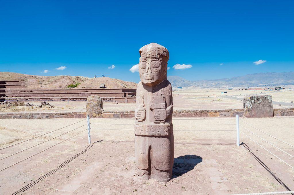 Steinskulptur in Tiahuanaco/Bolivien