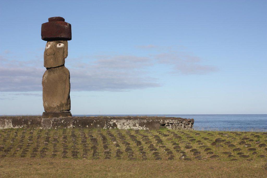 Ahu Ko Te Riku auf der Osterinsel