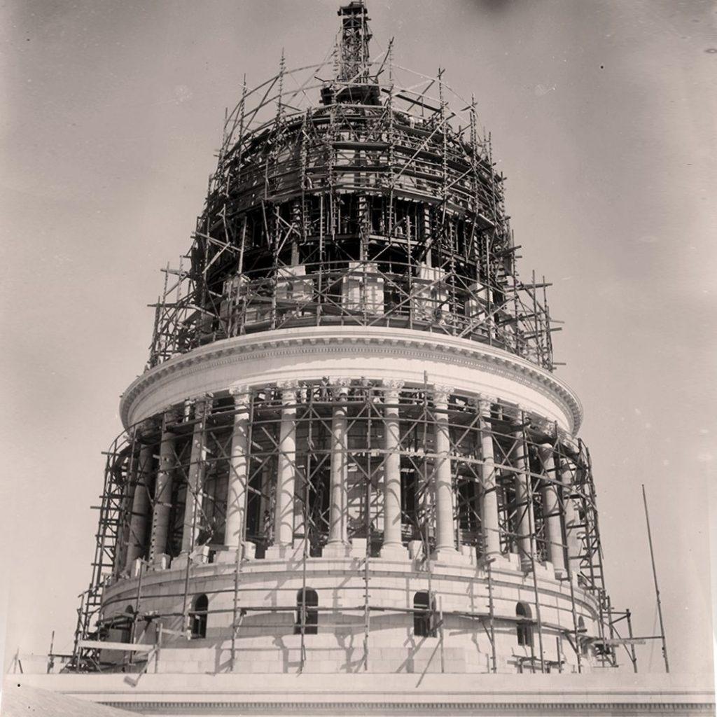 Bau des Kapitols in Havanna auf Kuba